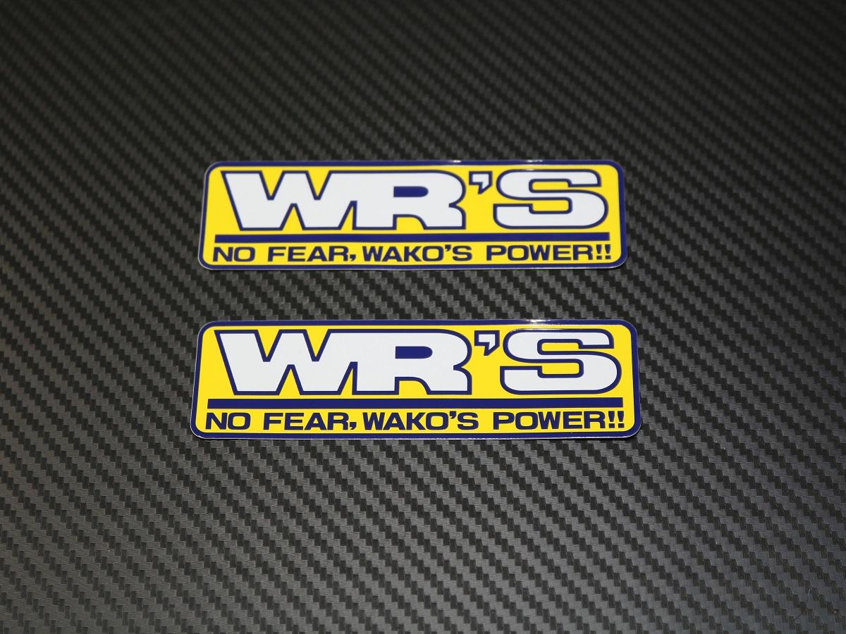 WR'SロゴステッカーSET (小2枚組)の製品写真