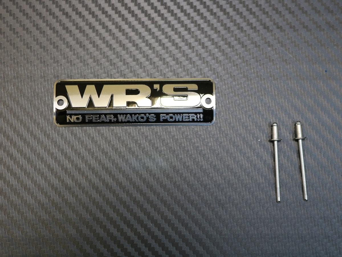 WR'S マフラーエンブレム (黒色小タイプ)の製品写真